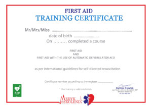 kurs pierwszej pomocy po angielsku